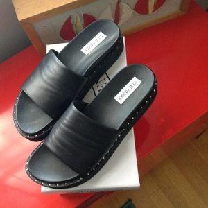 409691245b3 Steve Madden Shoes - Steve Madden Jen Studded Platform slide sandal